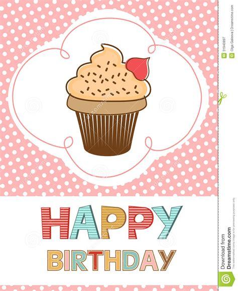 Cupcakes Setwedding And Birthday happy birthday card with cupcake royalty free