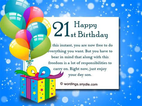 Happy 21st Birthday Wishes For 21st Birthday Wishes Messages And 21st Birthday Card