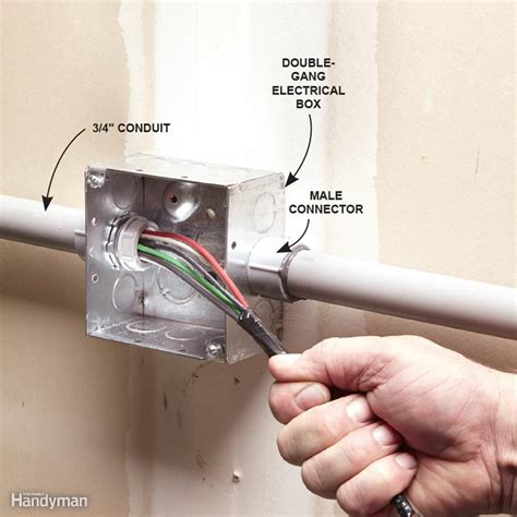 electric wire fitting installing pvc conduit the family handyman
