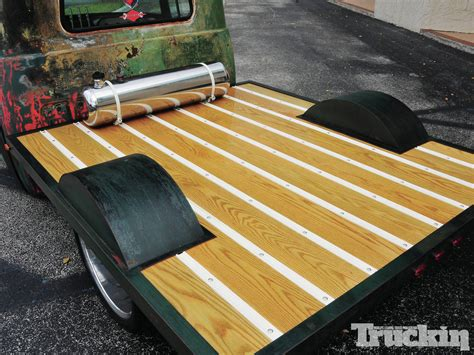 wooden truck bed unfinished business 1957 dodge d100 custom flat wood bed