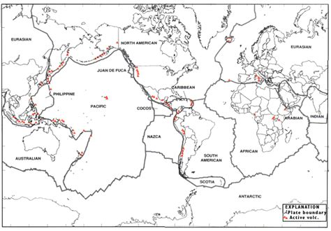 tectonic plates map usa volcanoes of the united states usgs