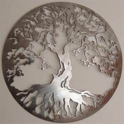tree of metal wall decor