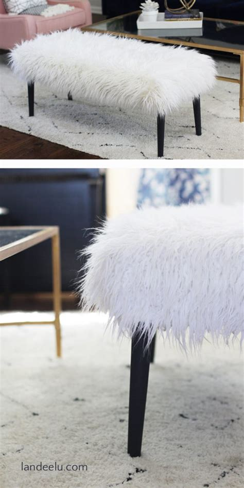 faux fur bench diy bench makeover faux fur landeelu com
