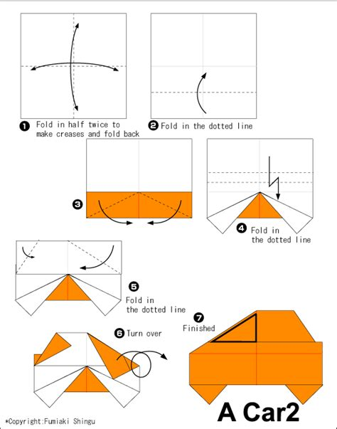 how to make an origami truck how to make a origami car diagram