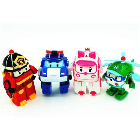Robocar Poli Figure 4pcs set transformation robocar poli robot car korea