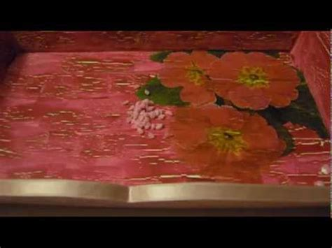 tutorial vassoio decoupage tutorial decoupage vassoio floreale effetto crackl 232 avi