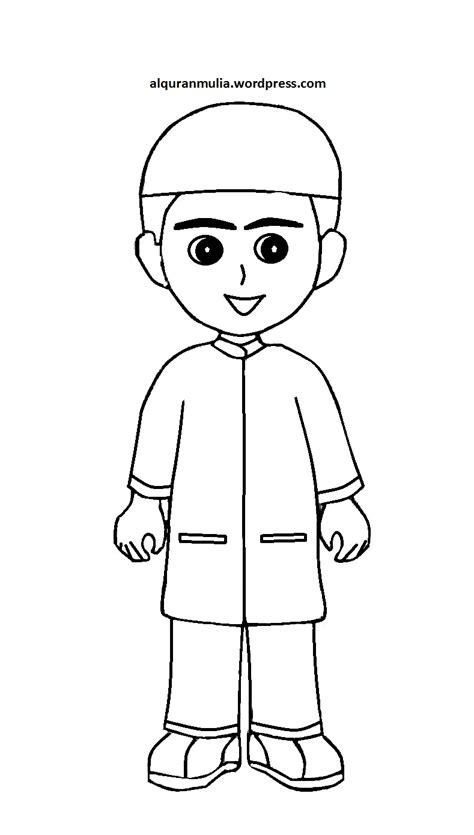 gambar mewarnai anak muslim desain hidupmu