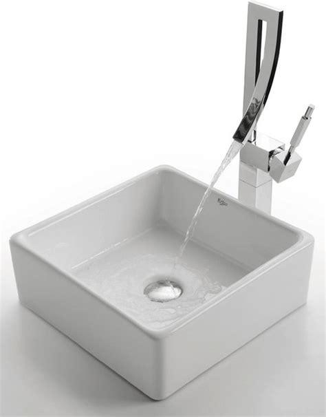 bathroom sinks nyc kraus c kcv 120 1200 white square ceramic sink and