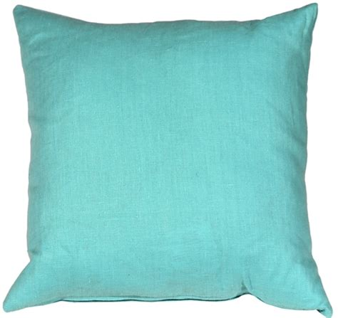 Turquoise Toss Pillows Tuscany Linen Turquoise 20x20 Throw Pillow From Pillow D 233 Cor