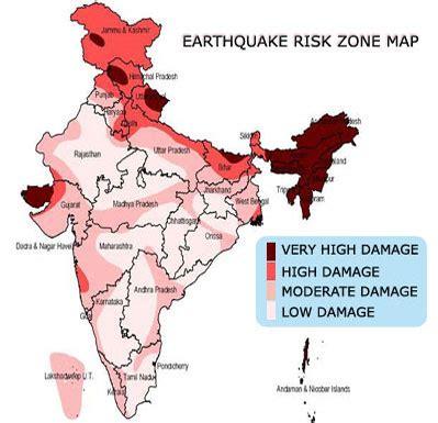 earthquake zone in gujarat earthquake prone areas in india