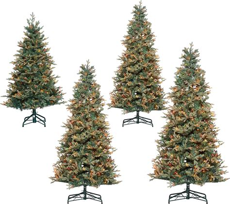 bethlehem lights prelit blue spruce christmas tree qvc com