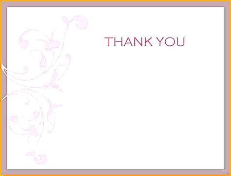 Word Template For Thank You Card by Free Thank You Templates For Word Fantastic Thank You