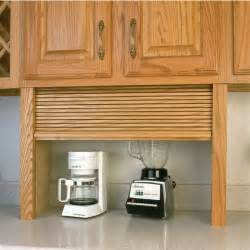 Appliance garage wood tambour kitchen straight appliance garage by