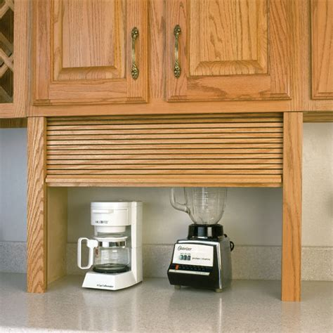 Kitchen Cabinets In Garage Appliance Garage Wood Tambour Kitchen Appliance Garage By Omega National