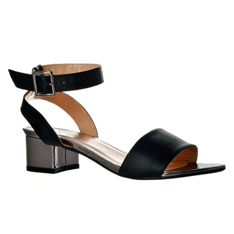 low heel sandal low heel ankle sandal with buckle on silde miss