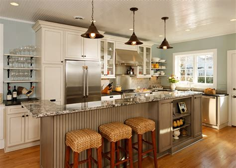 Modern Kitchen Island Lights by Open Concept Entertainer S Kitchen Eclectic Kitchen