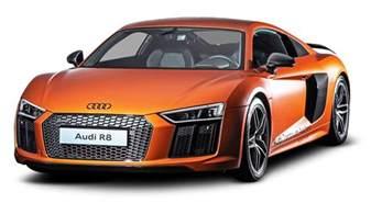 orange audi r8 car png image pngpix