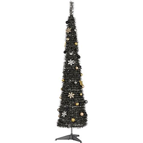 image for tinsel 6ft pop up silver christmas tree from