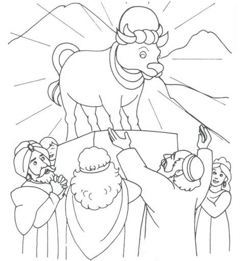 printable coloring pages exodus the golden calf exodus 32 coloring bible ot exodus