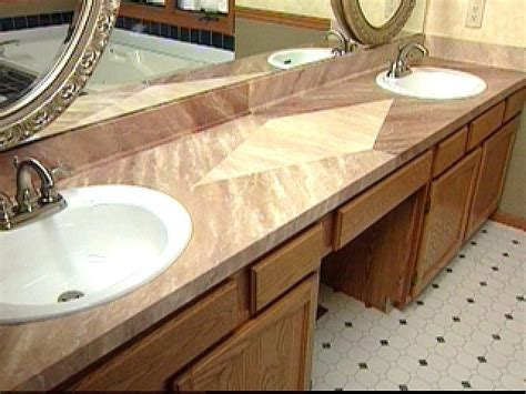 painting laminate bathroom countertops how to give a laminate countertop a faux marble finish hgtv