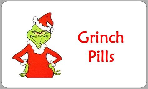 printable grinch stickers 21x grinch pills labels stickers christmas novelty fun