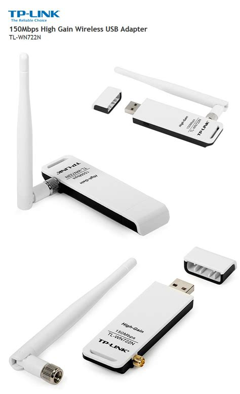 Usb Adapter Tp Link Tl Wn722n tp link 150mbps high gain wireless usb adapter tl