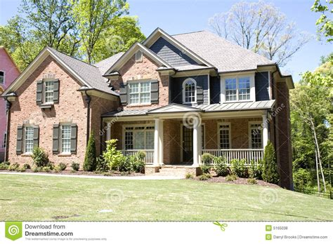 Brick House With Porch Royalty Free Stock Photos Image