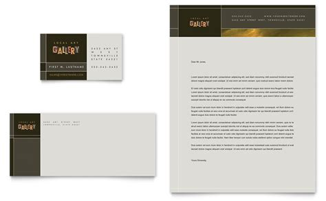 microsoft word template for gallery display card gallery artist business card letterhead template
