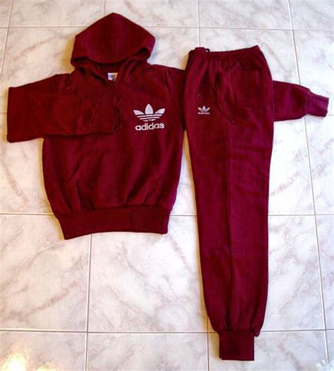 hood babes sweat suit red white 99828 at hoodboyz adidas hoodie sweats top and pants maroon size xs