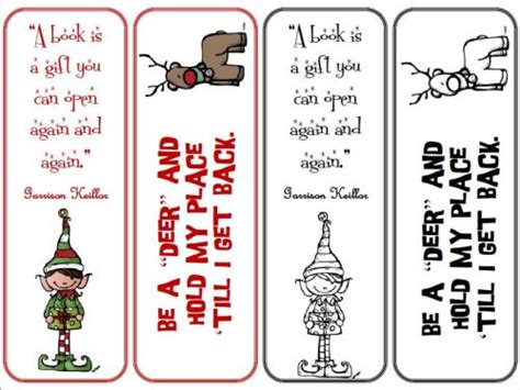 printable xmas bookmarks library programs beyond survival in a school library