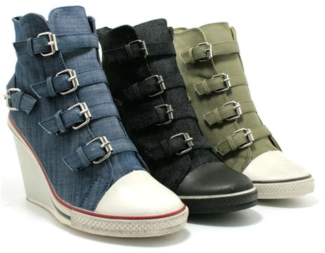 wedge heel canvas platform shoes boots sz 3 8 ebay