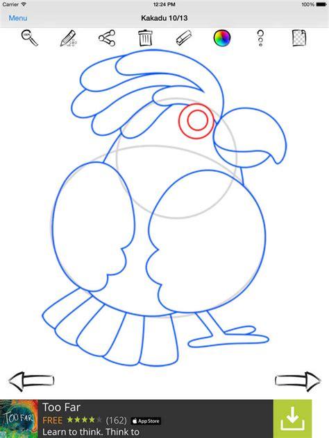 application draw app shopper how to draw birds education