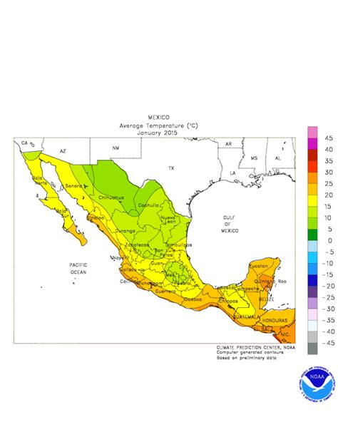 weather map usa and mexico climate prediction center monitoring and data regional