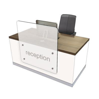 Zed Compact Straight Reception Desk 1 Reception Desks Compact Reception Desk