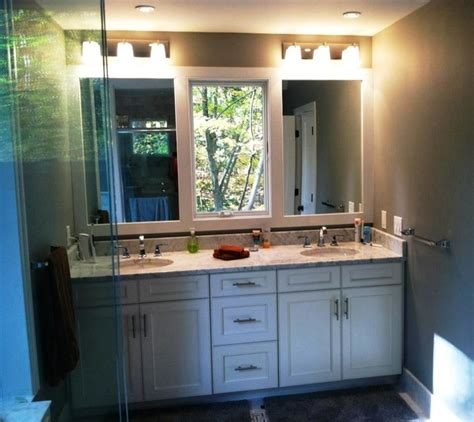 Two Sink Bathroom Vanities Double Master Vanity With Center Window