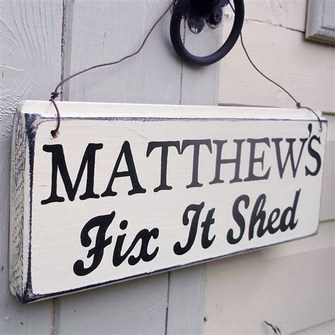 personalised wire strung shed sign by potting shed designs notonthehighstreet com