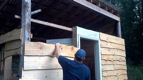 hanging rustic yellow pine siding chainsaw milled youtube