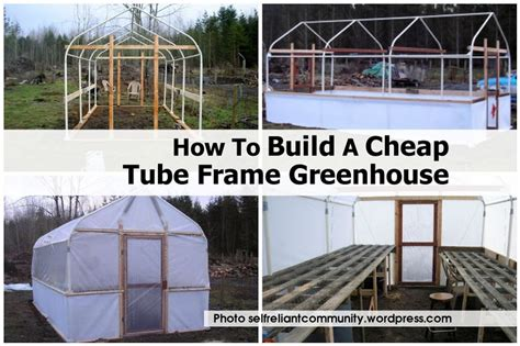 how to build a cheap frame greenhouse
