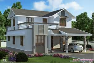 2 floor houses 1900 sq 2 storey villa plan kerala home design and floor plans