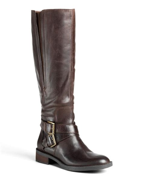 enzo boots enzo angiolini sporty leather boots in brown lyst