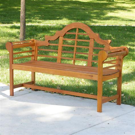 lutyens garden bench achla designs lutyens eucalyptus wood garden bench