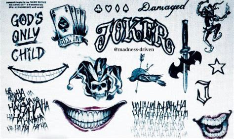 joker tattoos joker harley quinn pinterest tattoos