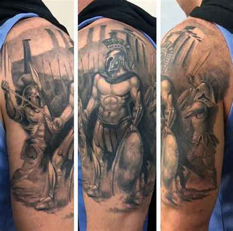 greek warrior tattoo 50 spartan designs for masculine warrior ideas