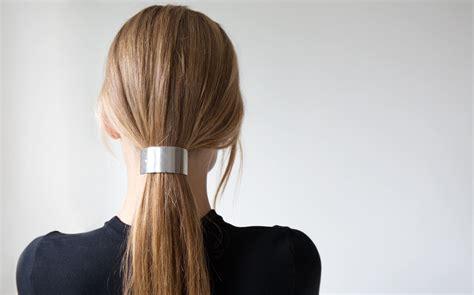 silver ponytail sylvain le hen silver ponytail barrette kindred black