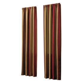 lowes drapery shop allen roth alison 84 in red polyester rod pocket