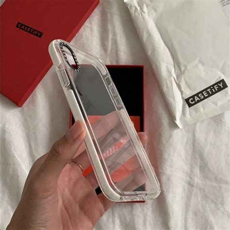 casetify accessories iphone xr clear impact poshmark