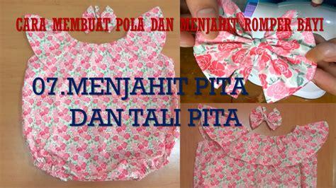 cara buat kain dress cara membuat pola dan menjahit baju dress romper bayi