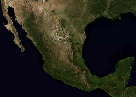 imagenes satelitales ciudad de mexico mapa de mexico y estados unidos satelital