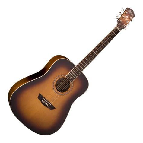 Gitar Akustik Washburn washburn wd7s acoustic guitar antique tobacco sunburst at