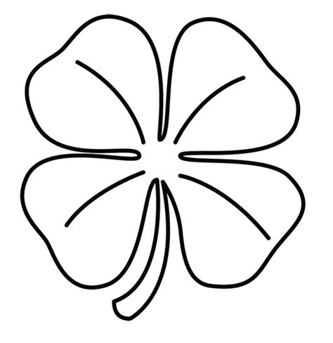 coloring pages of four leaf clover printable 4 leaf clover az coloring pages